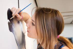 Working on Unicorn Painting by DablurArt