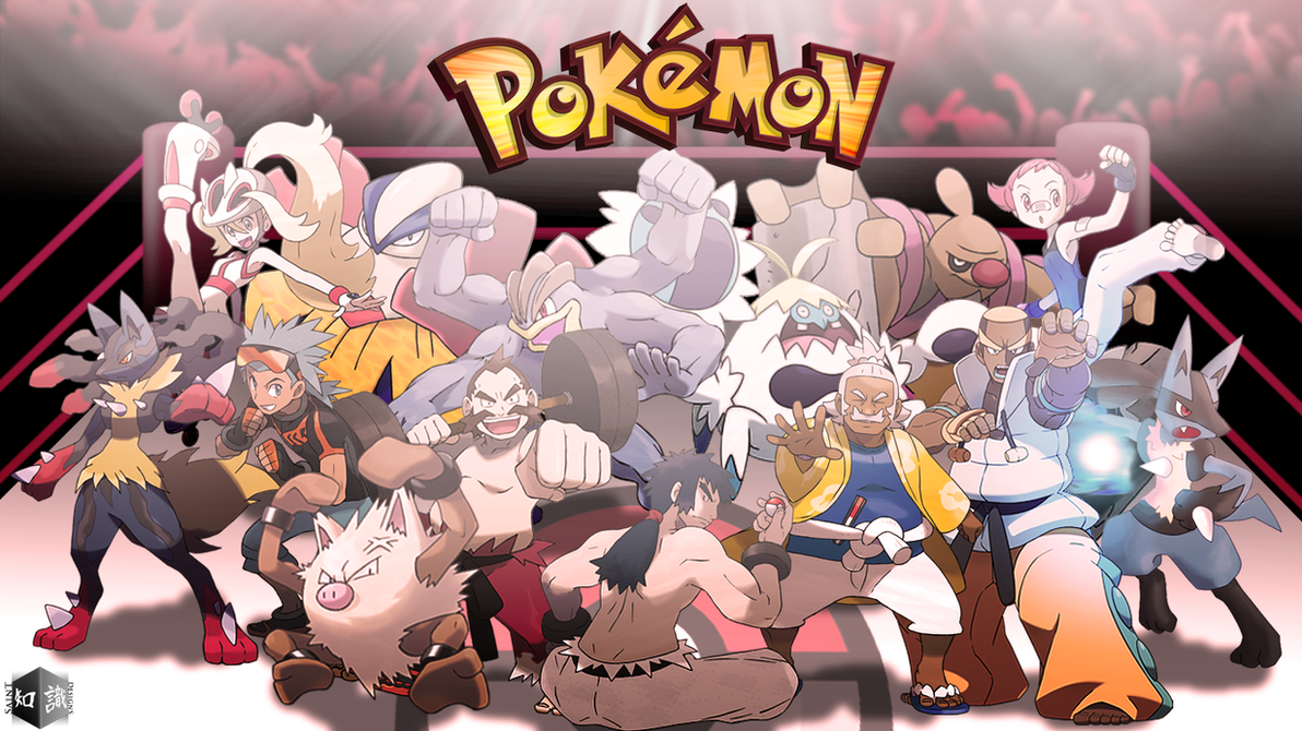 fighting type pokemon trainers reupdated art by