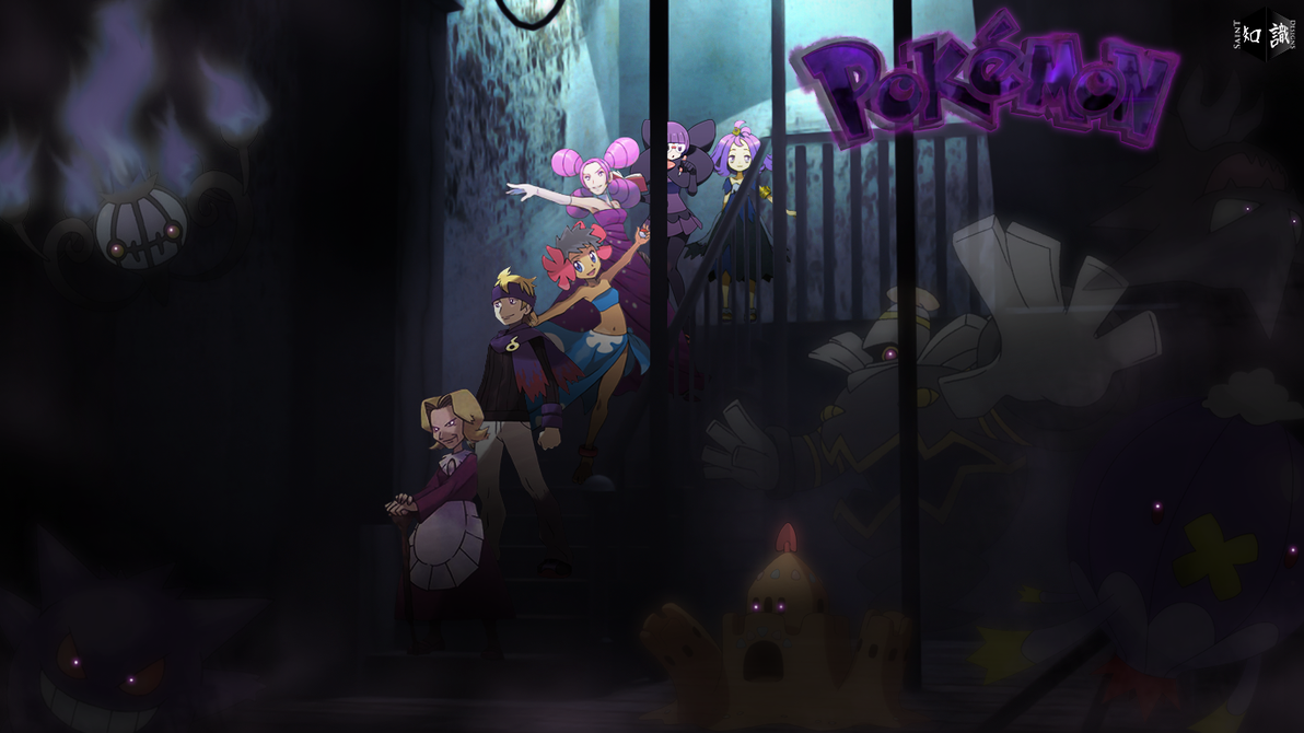 Ghost type pokemon trainers re updated art by saintnaruto on deviantart - Pokemon ghost wallpaper ...