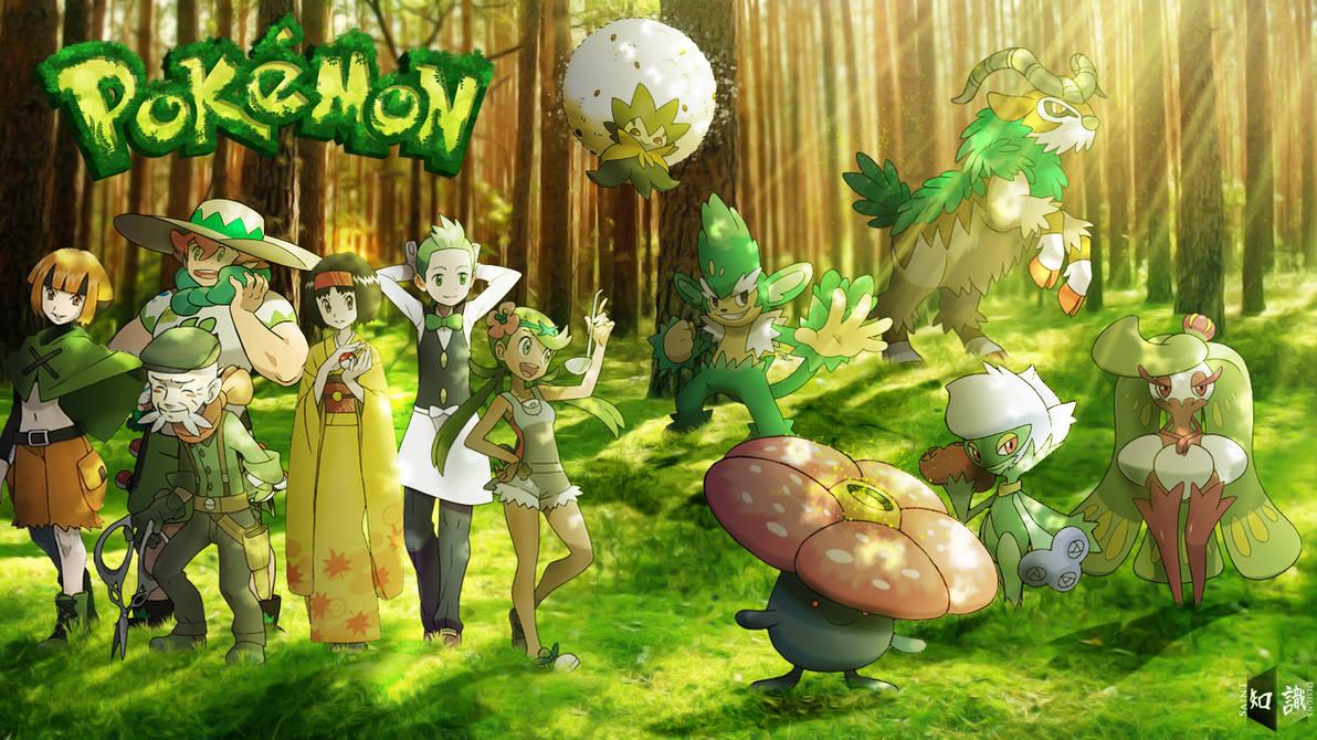 Grass Type Pokemon Trainers Re Updated Art By Saintnaruto On