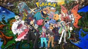Champion Pokemon trainers (Updated art) by saintnaruto