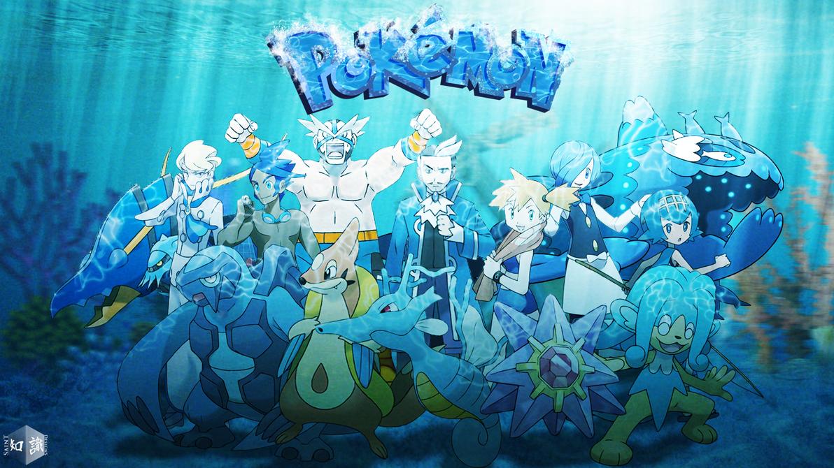 Water Type Pokemon Trainers Re Updated Art 433030103