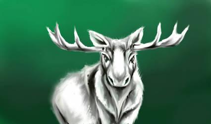 Spirit Moose by ArcticIceWolf
