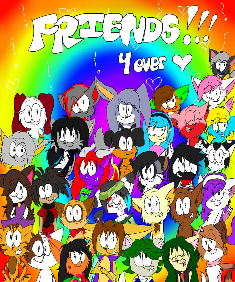 Feliz dia del amigo by RociDrawings97