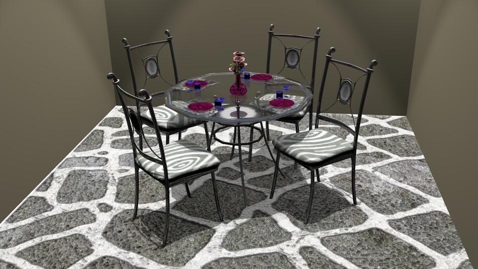 Dining Set 01 by Rosebud1773