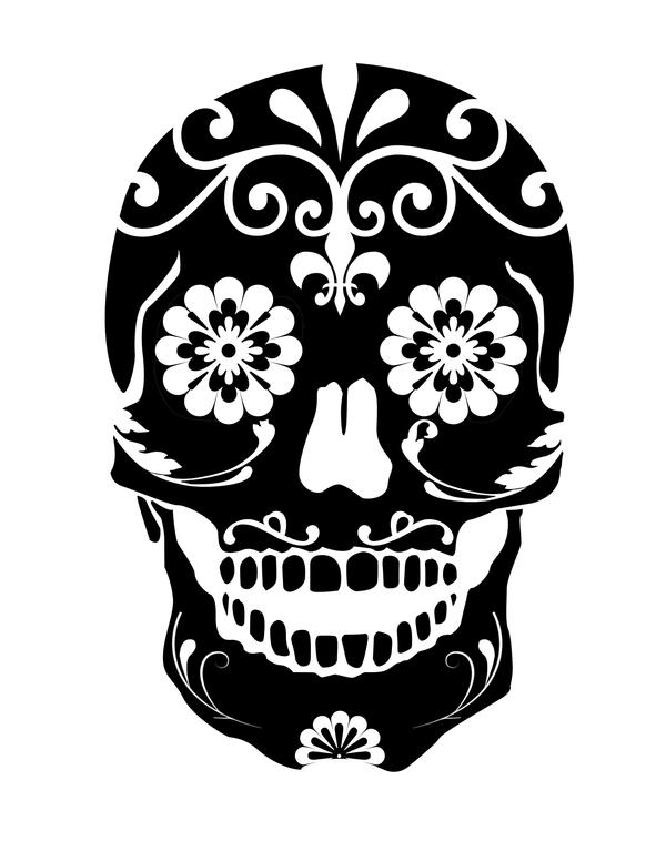 Graffiti Stencils Skull Dead Sugar Skull stencil