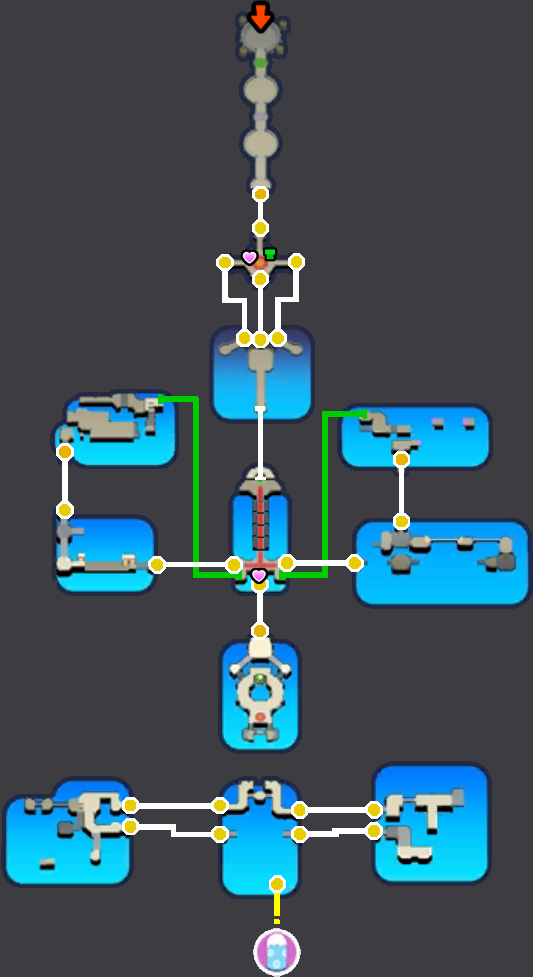 Mario Luigi Paper Jam Neo Bowser Castle Minimap By Ludaosmo 16x16