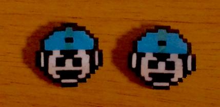 Mega Man Studs by iferania