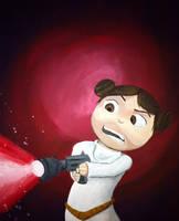 Lil Princess Leia by GeekyNikki