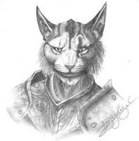 Kharjo the Warrior of Skyrim by Jei-Dinofelini
