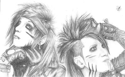 Andy Biersack and Ashley Purdy by Jei-Dinofelini