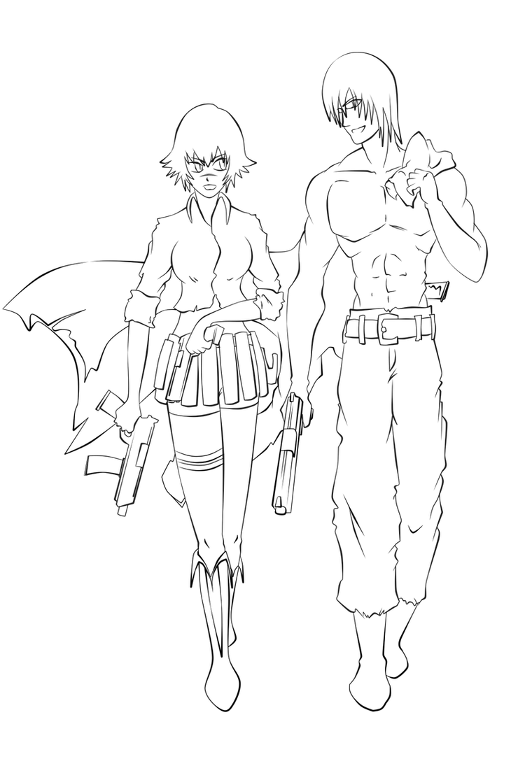 devil may cry coloring pages - photo#2