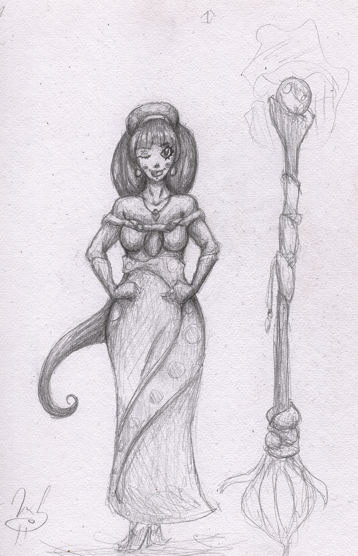 Witchy Sketch by GhostingFish