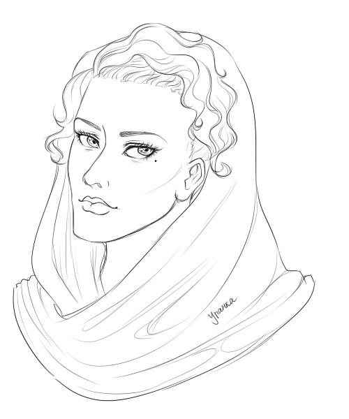 Line Art Woman : Arabian woman lineart by uranka on deviantart