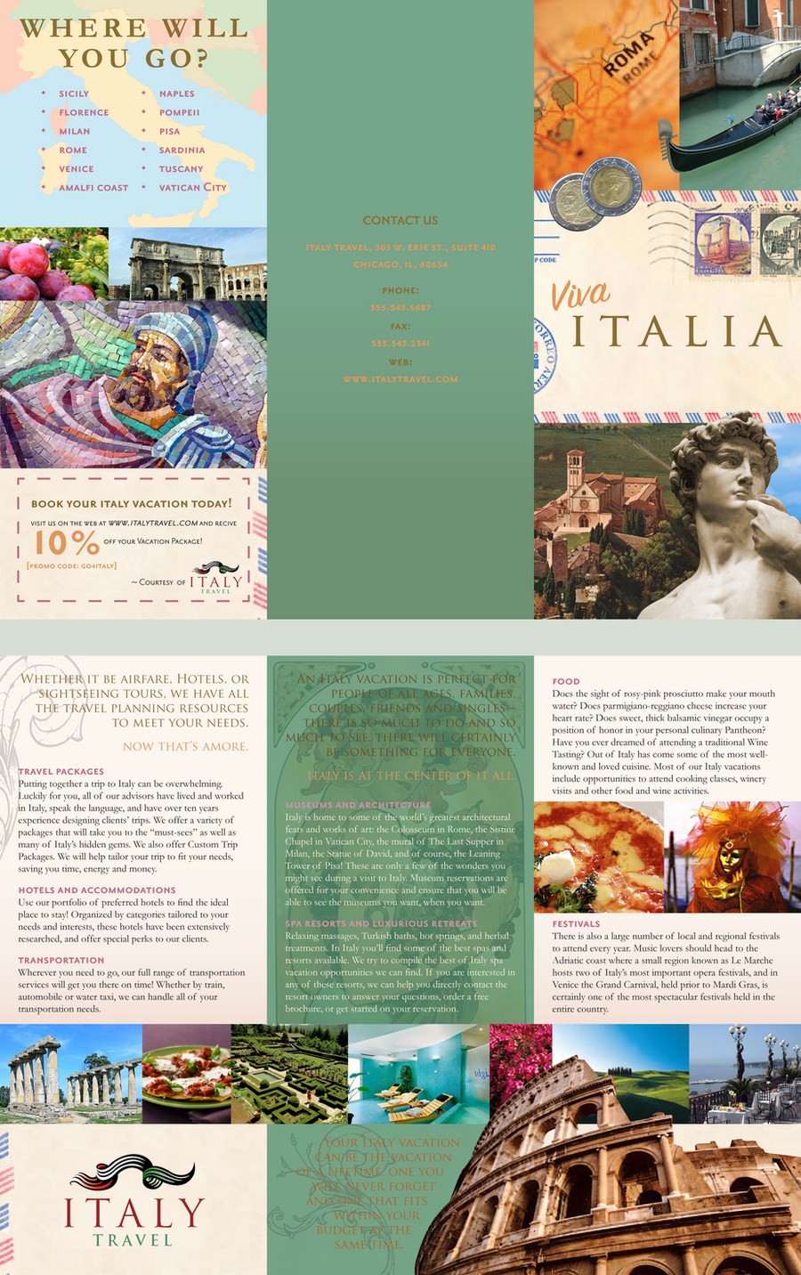 Graphic Art: Travel Brochure by greenleafcm