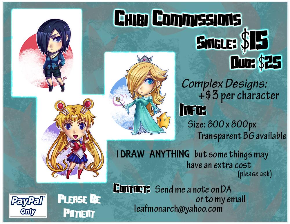 Chibi Commissions by Khaliqa