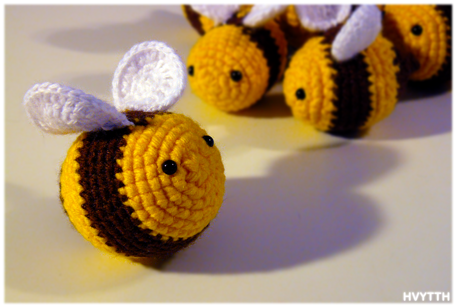 Crochet Bees By Heavyteeth On Deviantart