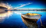 Boat in blue by xXKASXx