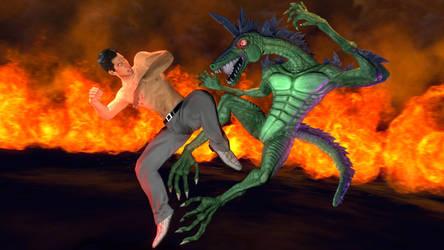 Kiryu Fucking Fights a Dragon