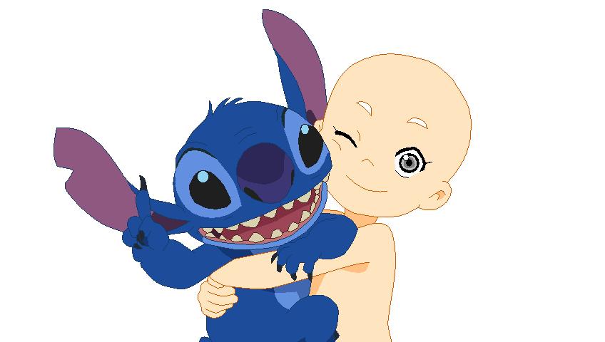 Stitch And Angel Human Stitch with human base by