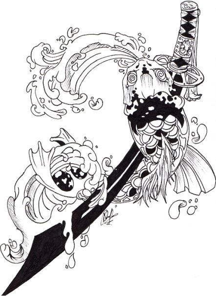 Japanese Tattoo Design Outlines