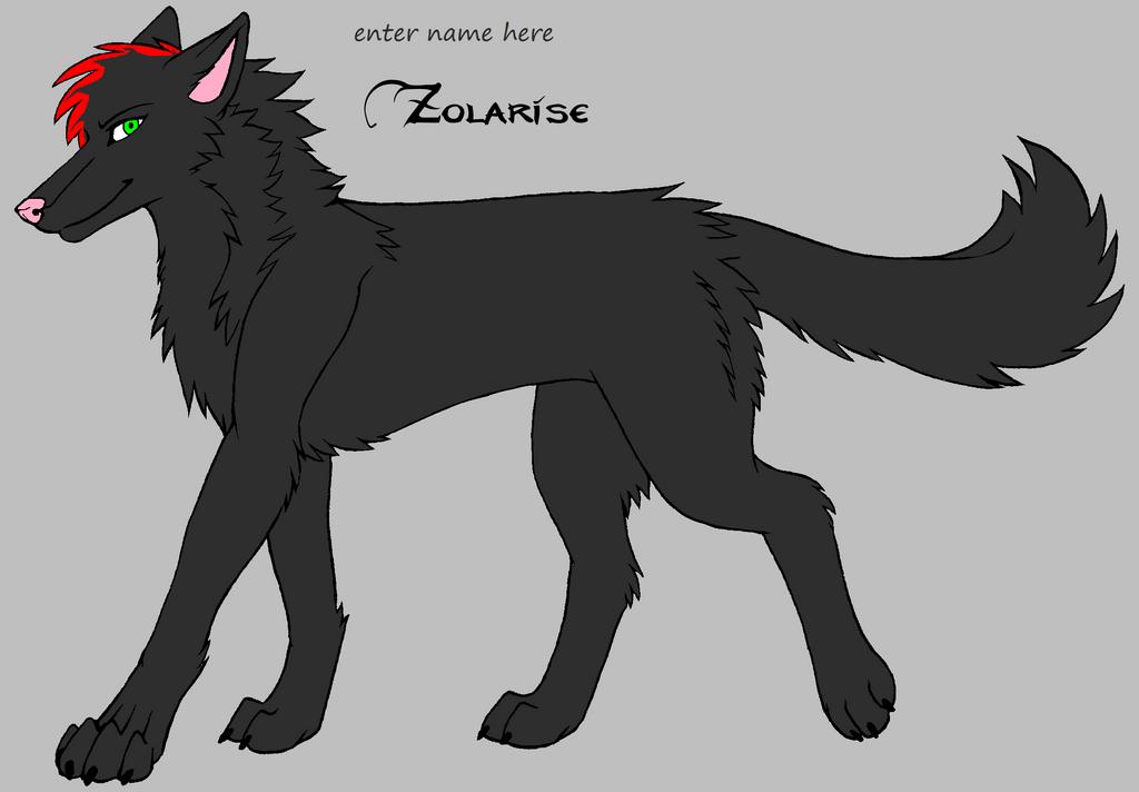 wolf oc 5 TAKEN by darkemilyrobin