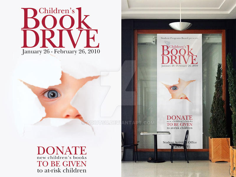 childrens book drive poster by adiutsu