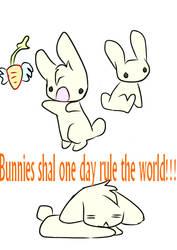 bunnies by supernomnomcat