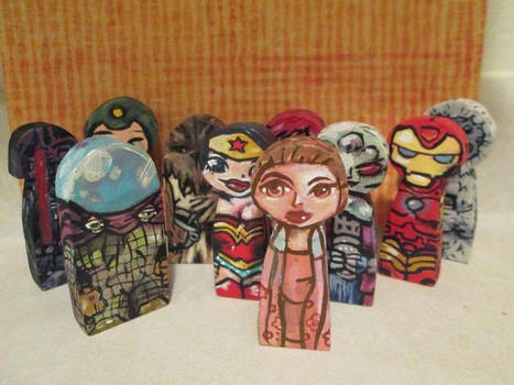 Painted wood figures