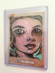 walking dead sketch card by kettleart