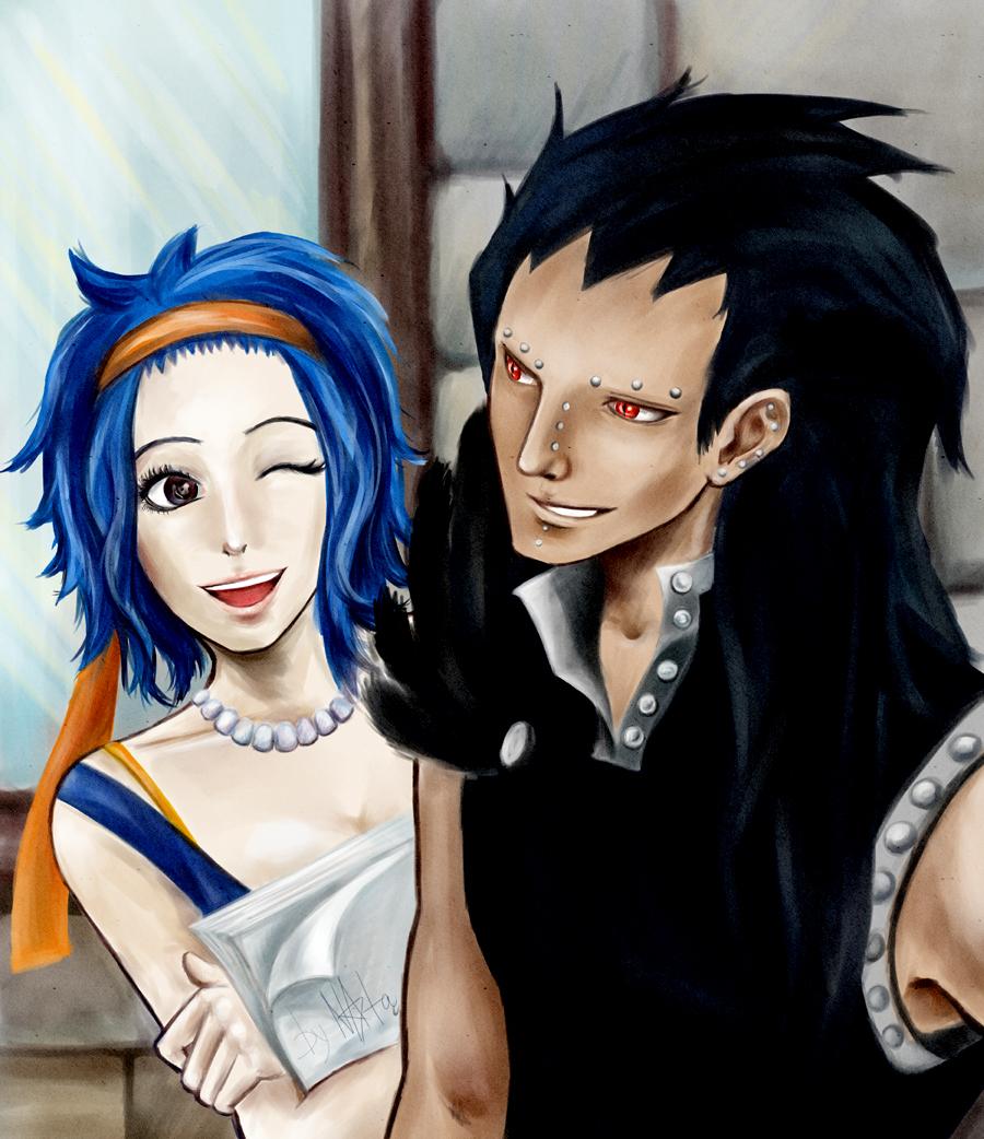 Fairy Tail Gazille X Levi by Elyata