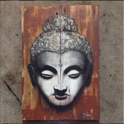 Budda on pallet in Chalk