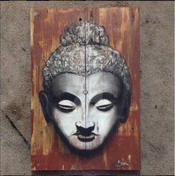 Budda on pallet in Chalk by KeatonKohl