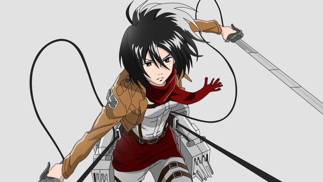 Anime Characters Hd : Vs current sakura mikasa