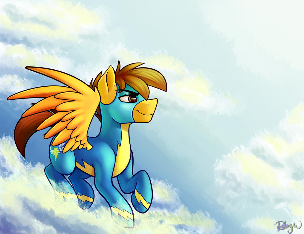 Compylight as a Wonderbolt In The Sky by jljr192