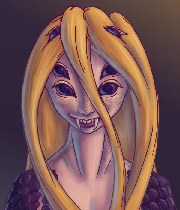 Pelargony Slash Smile by LukkiStarr