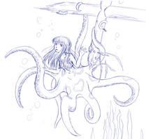 2016 Monster Girls Challenge - Octomaid by LukkiStarr