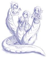 Hydra Lamia by LukkiStarr