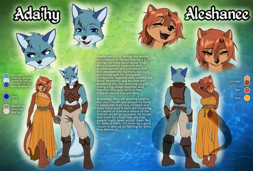 Ada'hy and Aleshanee - Official ref-sheet