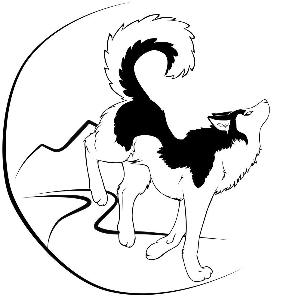 husky tattoo design by darkravenstear on deviantart. Black Bedroom Furniture Sets. Home Design Ideas