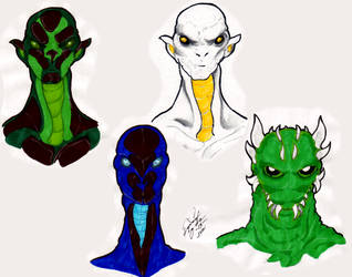Creature Heads 2 by HSQ-Vision