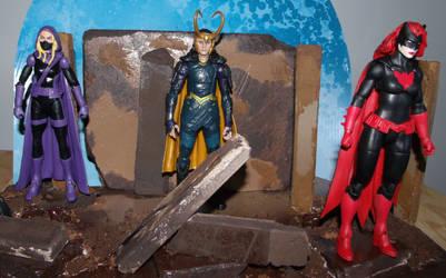 Movie Loki, The Spoiler and Batwoman