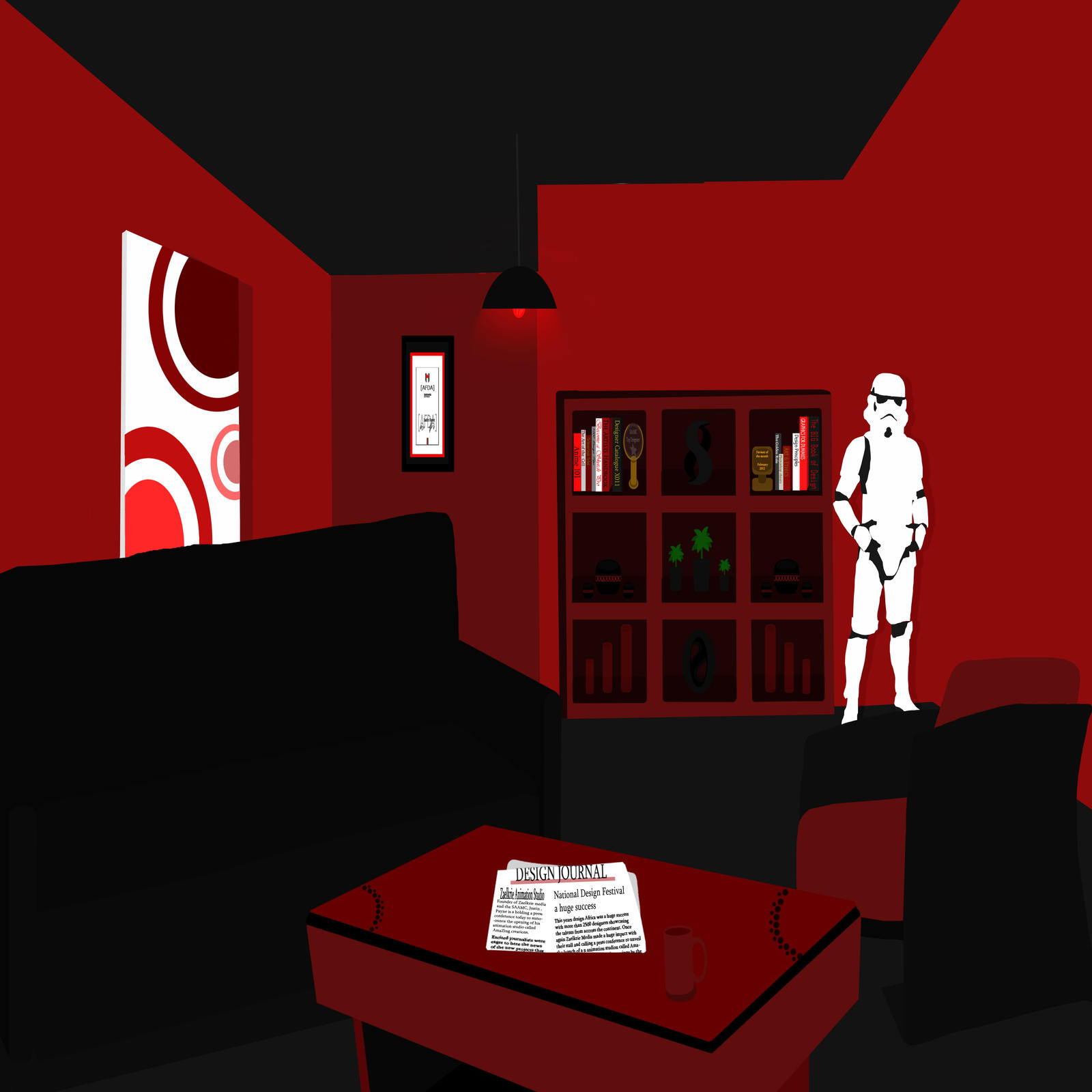 ... Room Design (Black And Red) By Zaelkrie Part 61