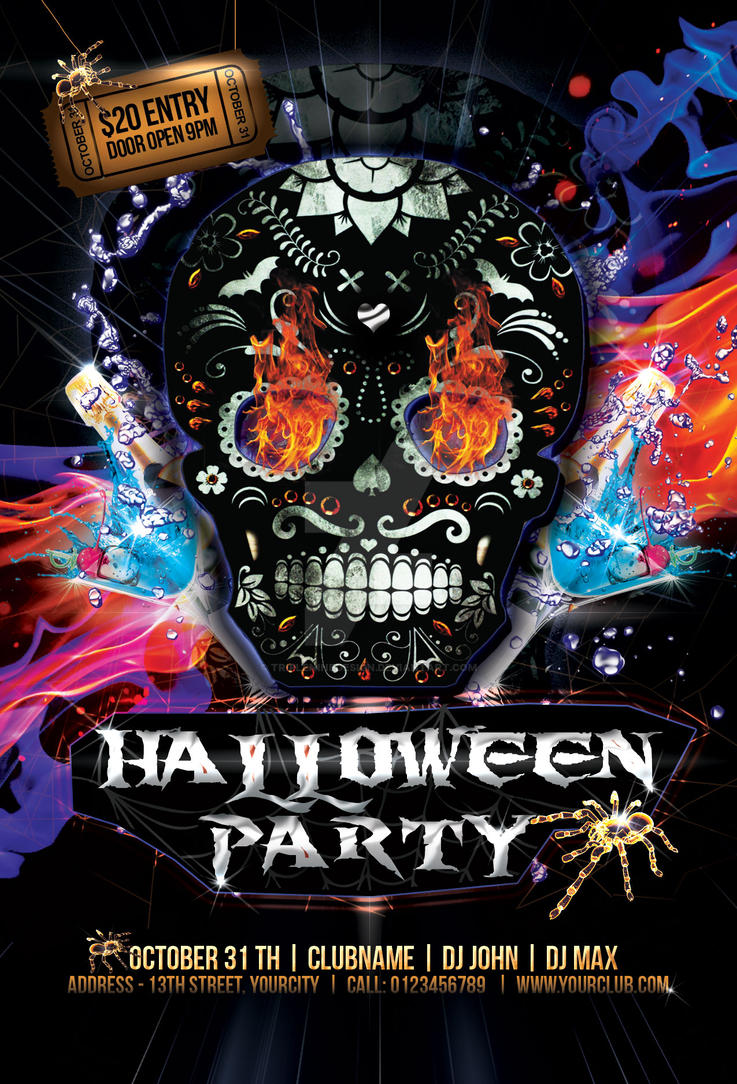 Halloween Party Flyer by tripleninedesign on DeviantArt – Halloween Party Flyer