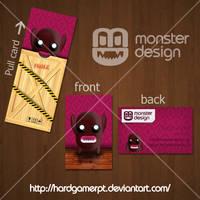 Monster Design business card by Hardgamerpt