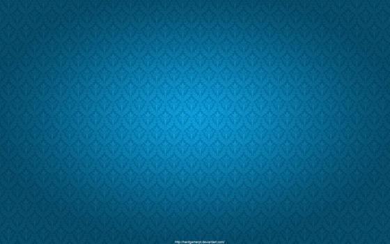 Blue Damask Pattern Wallpaper