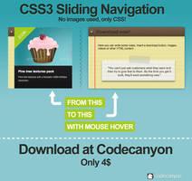 CSS3 Sliding Navigation by Hardgamerpt