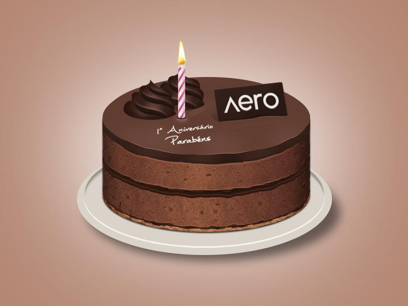 Aero Birthday Cake by Hardgamerpt