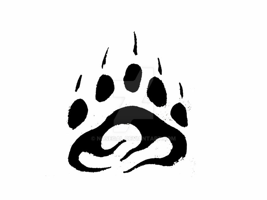 tribal bear paw print tattoo by nosegal on deviantart rh deviantart com tribal bear paw tattoo meaning Bear Paw Print Tattoo Designs