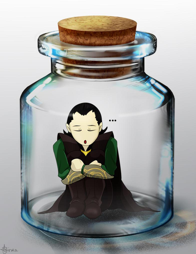 Commission : Bottled Loki. by Shinra-Creation